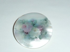 """Misty Rose Flower Button - Mother of Pearl MOP Shank Button 1+3/8"""" Rose ... - $11.87"""