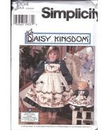 Non Découpé Vintage Simplicity Patron Couture Filles Daisy Royaume Robe ... - $6.29