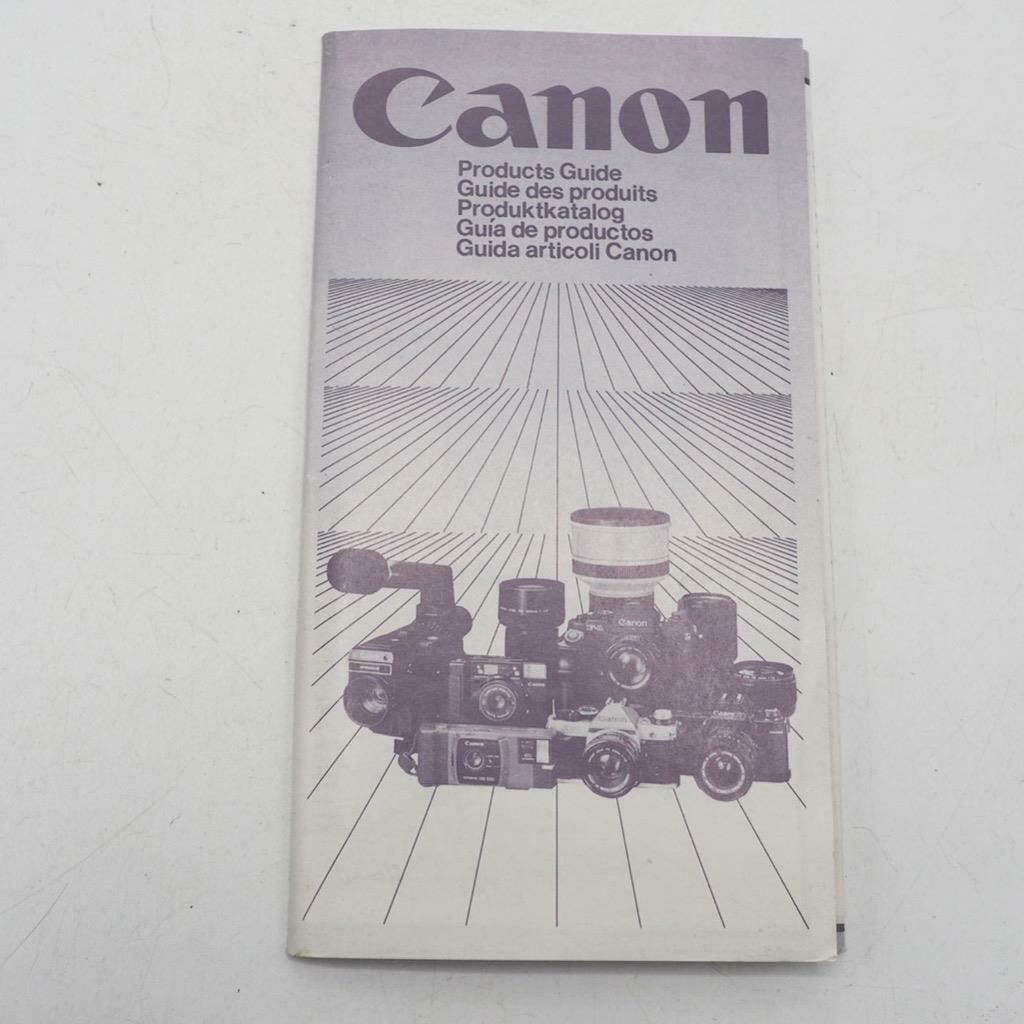 Primary image for Vintage Canon Camera & Lenses Product Guide Booklet 1982
