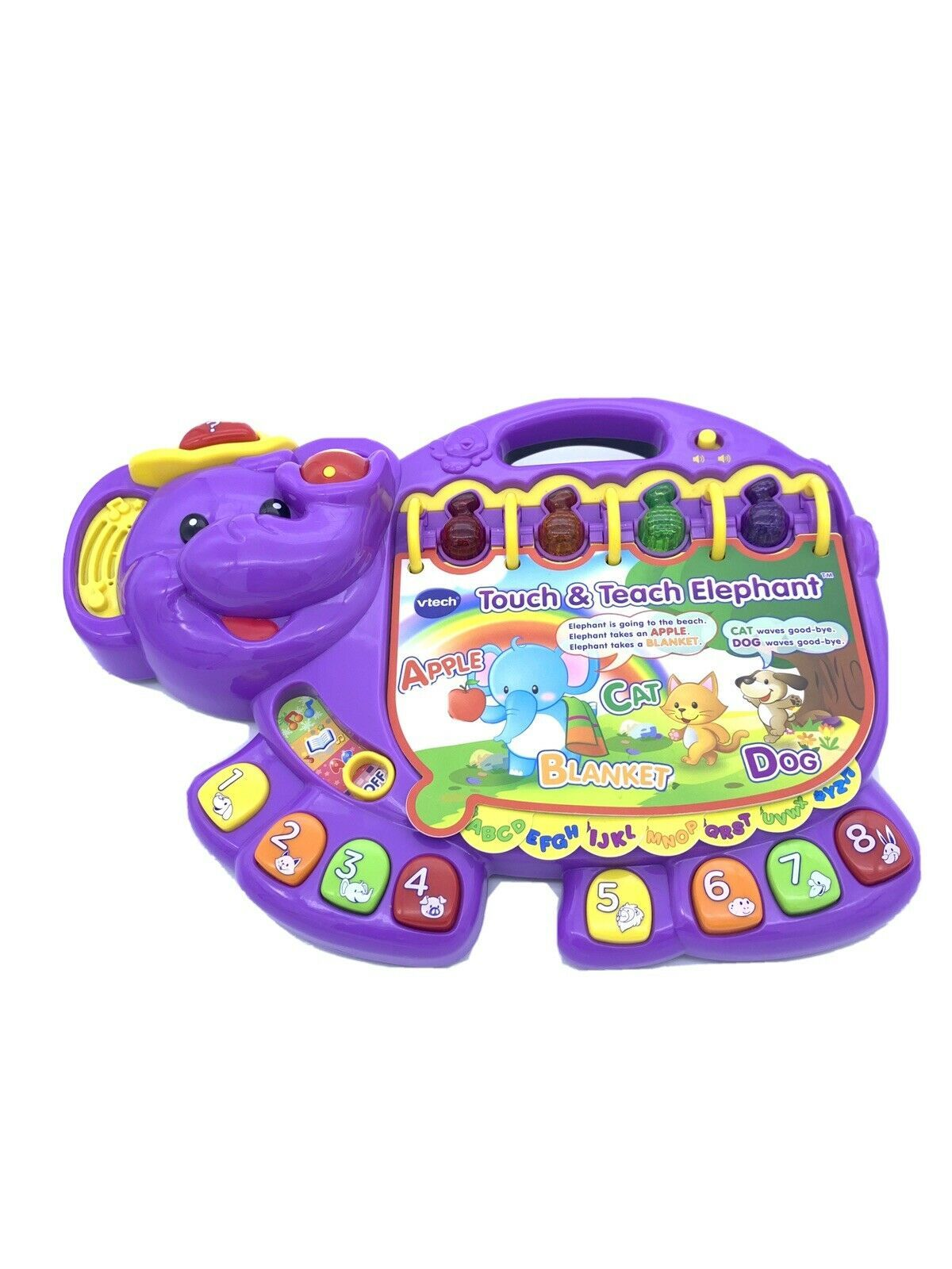 VTech Touch and Teach Elephant Baby Book Purple - $14.96