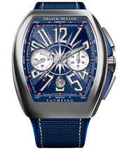 Franck Muller Vanguard  chrono Yachting watch with blue carbon fiber strap  - $11,100.00