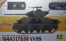 Cyber-Hobby 1/35 kit 9155 WW2 USA M4A1 [ 76] W VVSS Sherman Tank  w/bonus image 1
