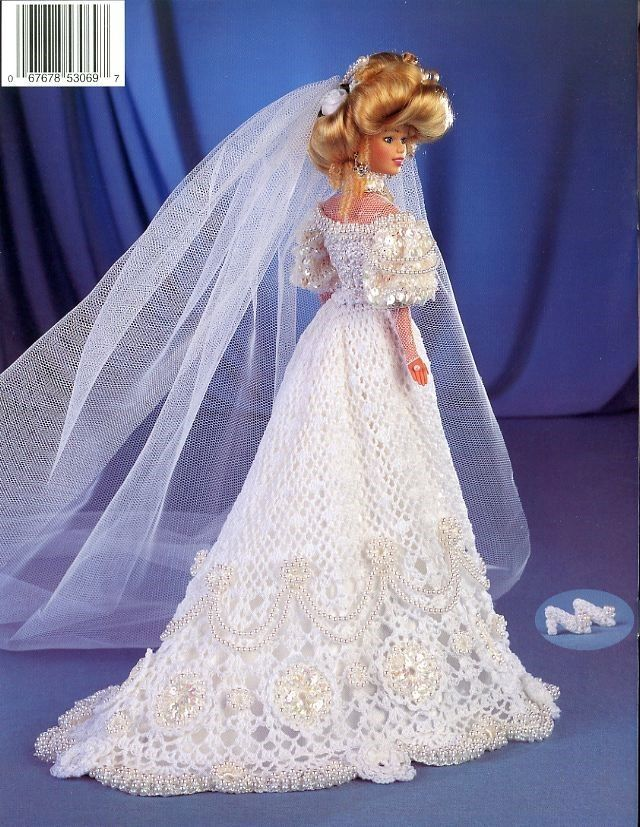 1903 Victorian Lace Bridal Gown for Barbie Paradise Vol. 58 Crochet PATTERN NEW
