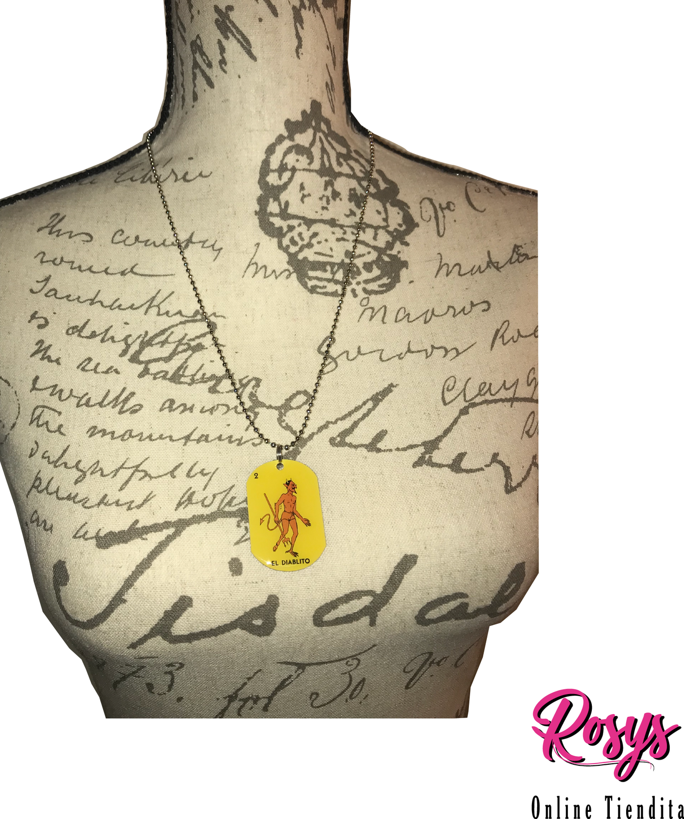 El Diablito Dog Tag Necklace | Loteria