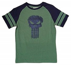 MARVEL COMICS THE PUNISHER MENS LARGE GREEN BLACK COTTON T-SHIRT NEW - $14.97