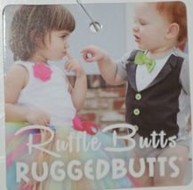 RuffleButts Faux Denim Infant Bloomers Size 12 to 18 Months Color Dark Blue image 5