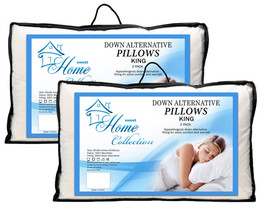 Down Alternative Hypoallergenic Bed Pillow Premium 4 Pack - King Size - $39.59