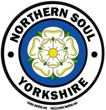 Northern Soul composite laminated circular wall plaque 25cm mod Wigan Yo... - $32.00