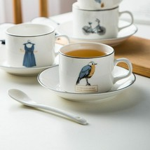 LOULONG® Design Light And Thin Teatime Afternoon Tea Cup Saucer Set Tazas - $29.52