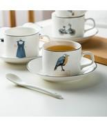 LOULONG® Design Light And Thin Teatime Afternoon Tea Cup Saucer Set Tazas - $30.82