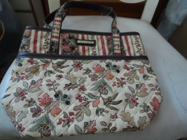 Longaberger fall leaf pattern small tote - $14.50