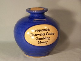 """Suquamish Clearwater Casino Gambling Money Bank , approx. 6.75"""" tall - $14.95"""