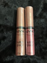 Lot of ( 2 ) NYX Butter Gloss Creme Brulee BLG14 &  BLGO7 - $9.95