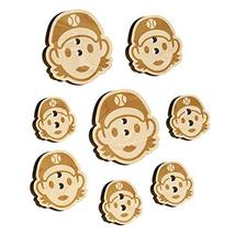 Occupation Athlete Softball Woman Icon Wood Buttons for Sewing Knitting ... - $9.99