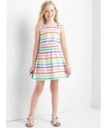 GAP Kids Girls Dress 14 16 Tank Rainbow Striped Bow Tie Tank Elastic Cot... - $19.79
