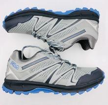 Nuevo Fila Northampton Gris Azul Claro Trail Zapatillas Zapatos Mujer Nuevos