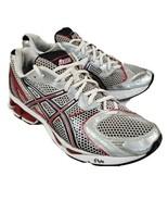 Asics Gel Kayano 15 Running Shoes Size 9.5 Red Silver T900N Walking Fitn... - $44.99