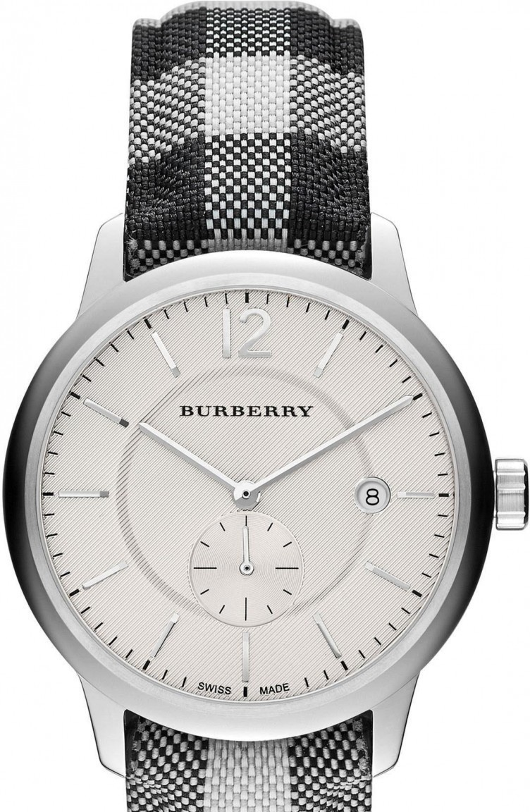 Primary image for Burberry BU10002 The Classic Round Silver Tone Watch 40 mm - Warranty