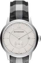 Burberry BU10002 The Classic Round Silver Tone Watch 40 mm - Warranty - $369.00