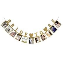 LINGPAR Bride to Be Photo Banner Gold Foiled for Wedding Sign Bridal Sho... - $12.16