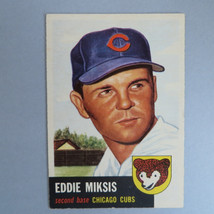 Eddie Miksis Baseball Card, Vintage 1953 Topps #39 VG, Chicago Cubs, Fathers Day - $15.00