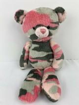 "Mary Meyer Teddy Bear Plush Pink Gray Camo 11"" Toy Camouflage Stuffed An... - $14.84"