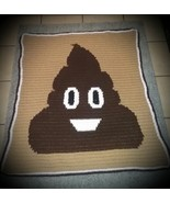 The Poop Emoji  Inspired Handmade Crochet Lapghan - $110.00