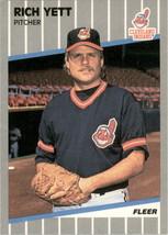 1989 Fleer # 417 Rich Yett Indians * MLBJUN1 - $0.99