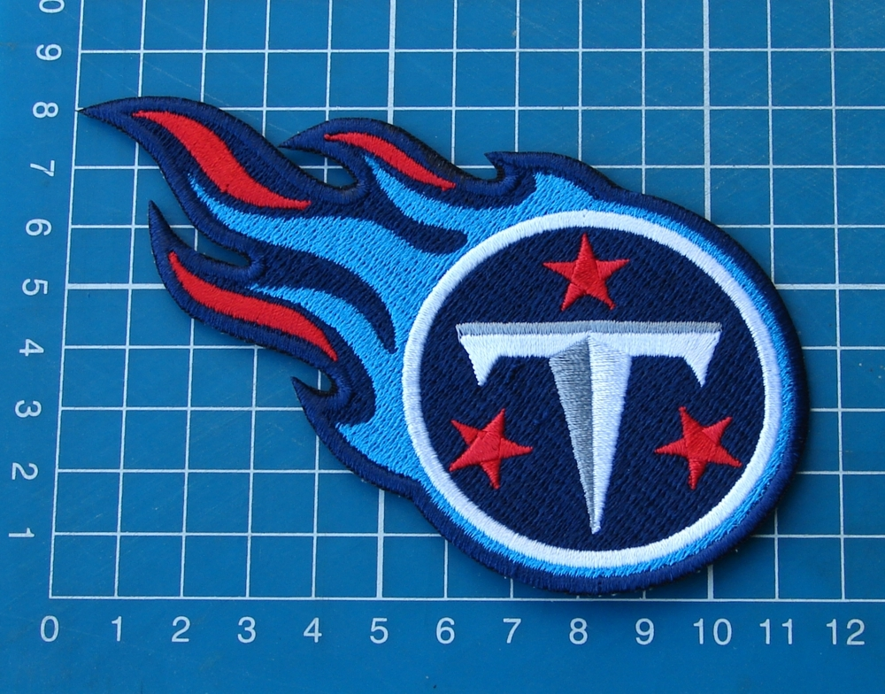 "Primary image for TENNESSEE TITANS FOOTBALL NFL SUPERBOWL 4.5"" HUGE LOGO PATCH EMBROIDERED JERSEY"