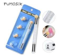 1PC Sponge Double-ended Acrylic UV Gel Picking Dotting Gradient Nail Pen... - $18.68