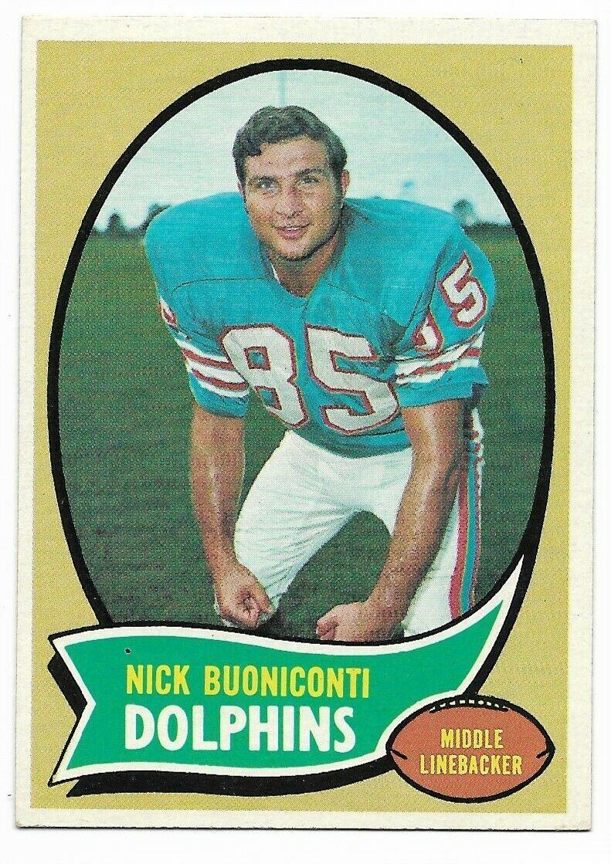 1970 Topps #244 Nick Buoniconti, Miami Dolphins