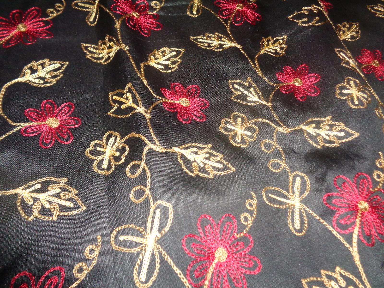 Silkland 100% Silk Floral Fringe Skirt Women's SZ 10 NEW Condition