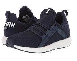 Puma Women's Mega Nrgy Heather Knit Shoes Running Sneaker Navy 9 - $39.59