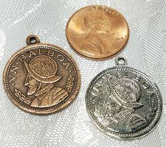 Balboa Coin FINE PEWTER PENDANT CHARM - 2x26x22mm image 3