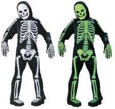 Fun World Totalmente Skelebones Verde Blanco Niños Disfraz Halloween 8736 - $29.19