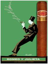 7910.Decoration Poster.Home Room wall design.Romeo Julieta Cuban cigar ad.Green - $11.30+