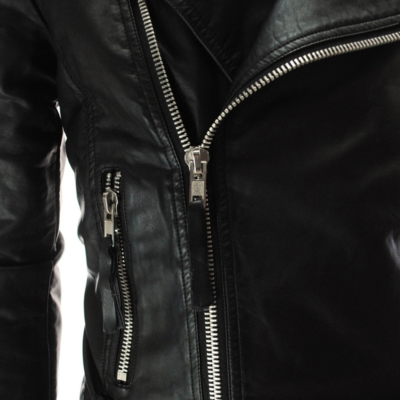 Alexis Men's leather zipper European style personality