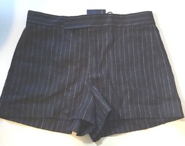 Ralph Lauren Womens Ladies Navy Dark Blue Shorts Size 16 Tailored Stripe - $83.21