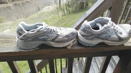 Nike tennis shoes women size 7 brooks hydro go serious gray and blue - $10.95