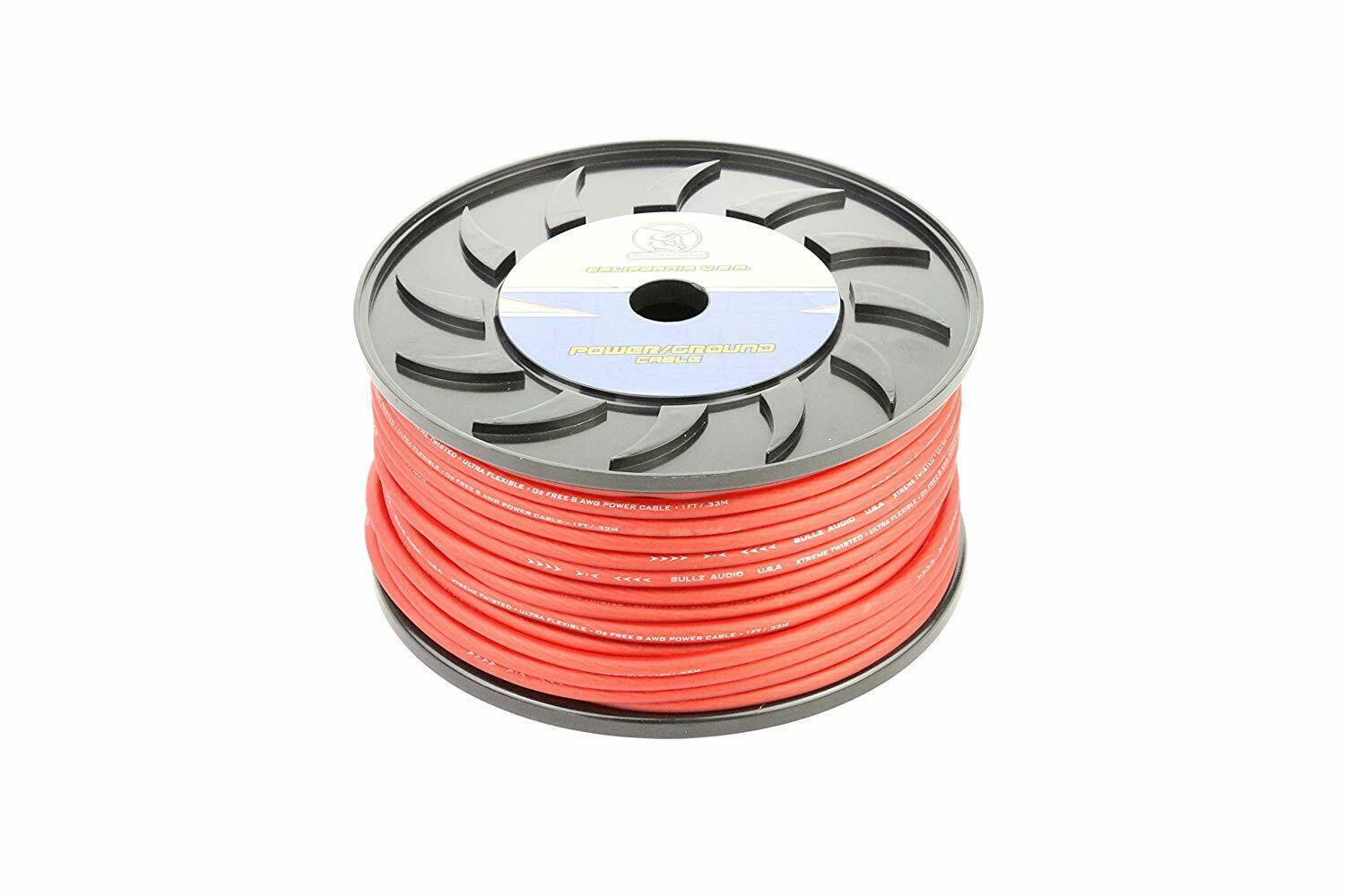 BULLZ AUDIO BPP8.200R 8 Gauge 200 FT RED Power Cable