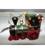 "Christmas Ornament Bearfoots Express Train Santa Bear in Train 2-1/2"" L ... - $12.57"
