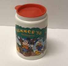 Walt Disney World Summer 1998 Insulated Travel Mug Mickey Mouse Goofy Donald - $19.79
