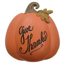 Give Thanks Resin Pumpkin - $49.72