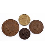 Lot of 4 Great Britain Coins (1900 - 1944) Farting - 3 Pence XF - AU - ₹2,815.42 INR