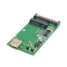 "Mini pcie mSATA SSD to 2.5"" SATA 6.0 Gbps and mSATA SSD to USB 2.0 adapt... - ₹454.02 INR"
