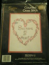 Golden Bee Counted Cross Stitch Sisters are all Heart sisters Kit New - $29.14
