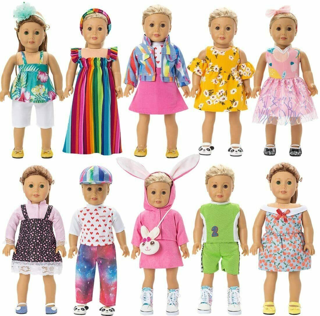 """18"""" Doll Clothes Accessories American Girl Dolls My Life Our Generation 10 Sets - $34.90"""