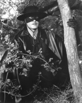 Guy Williams in Zorro hides in bushes Promotional Photograph 16x20 Poster - $19.99