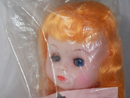 """8"""" Vintage 1988 Crochet Pillow Doll Open Close Eyes Blonde Hair Cute Baby Girl  image 2"""