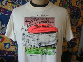 Vintage 90's Jersey Cruisers Car Show Hot Rod T Shirt XL  - $19.79